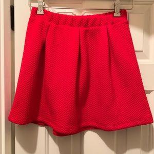 Cat & Jack girl's red skirt, size L (10/12)